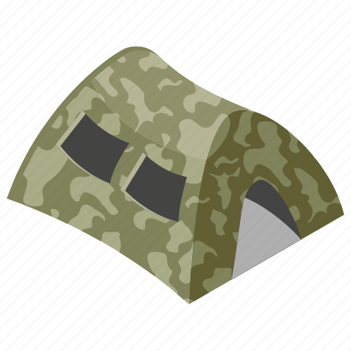 army tent, camping, military camp, outdoor accommodation, refugee camp icon
