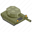 big bertha, cannon, heavy artillery, war equipment, weapon icon
