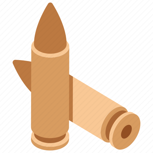 ammunition, bullets, missile, shell, small bomb icon
