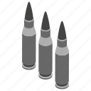 bomb, ammunition, bullet, projectile, shell, small rocket, missile icon