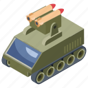 armoured tank, armoured vehicle, military panzer, tanker, war transportation icon