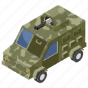 armored vehicle, army car, army van, military jeep, transportation icon