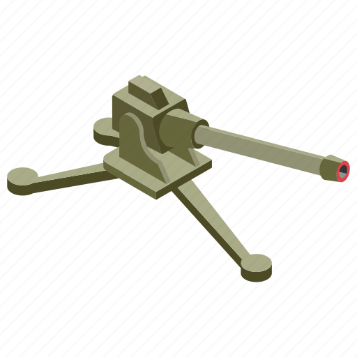 big bertha, cannon, heavy artillery, large gun, war equipment, weapon icon