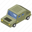 armored vehicle, army jeep, army van, military car, transportation icon