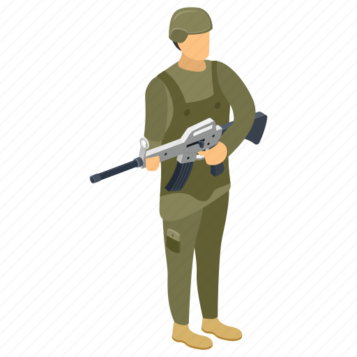 army man, commando, fighter, military person, serviceman, soldier icon