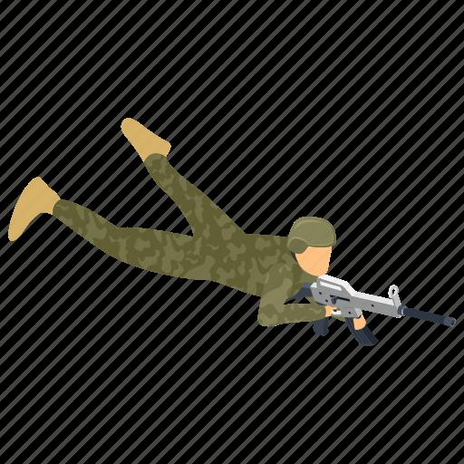 commando, fighter, fighting soldier, military person, serviceman icon