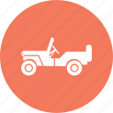army, car, jeep, military, transportation, war, world icon