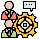 assistant, coach, find, mentor, partners icon