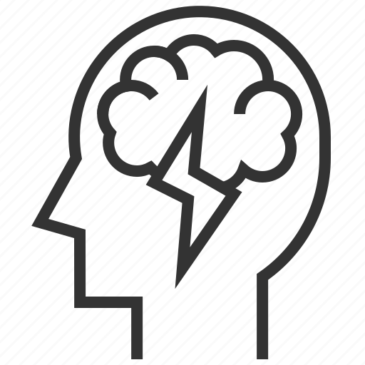 brainstorm, head, intelligence, intelligent, think icon