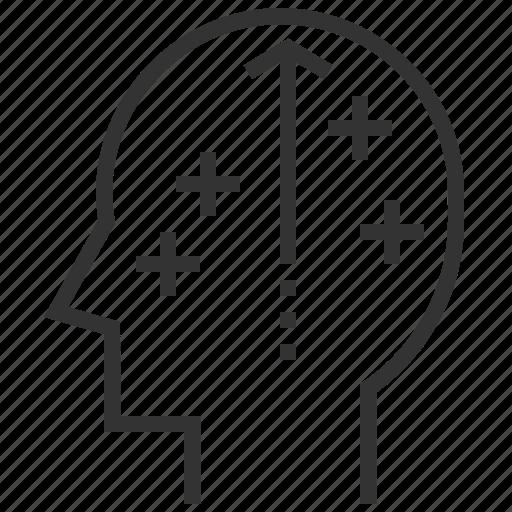 brain, creative, head, idea, positive, thinking icon