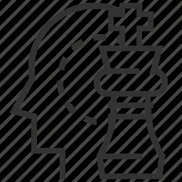 head, idea, mind, strategic, thinking icon