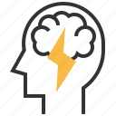 brainstorm, creative, creativity, idea icon