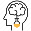 brain, business, idea, process icon