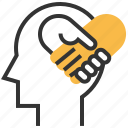 empathy, love, sign, sympathy icon