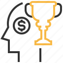award, mind, prize, trophy, winner icon