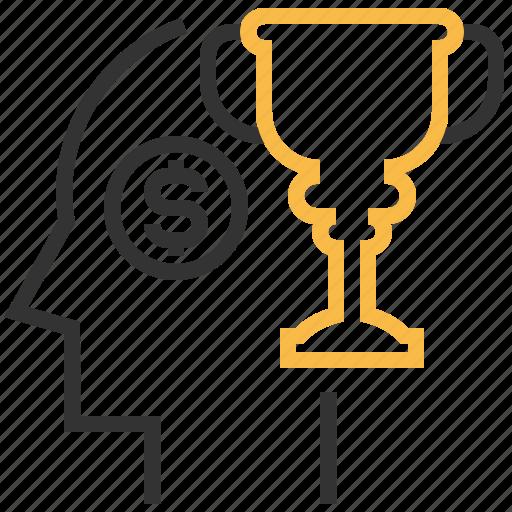 award, mind, prize, trophy, winner icon