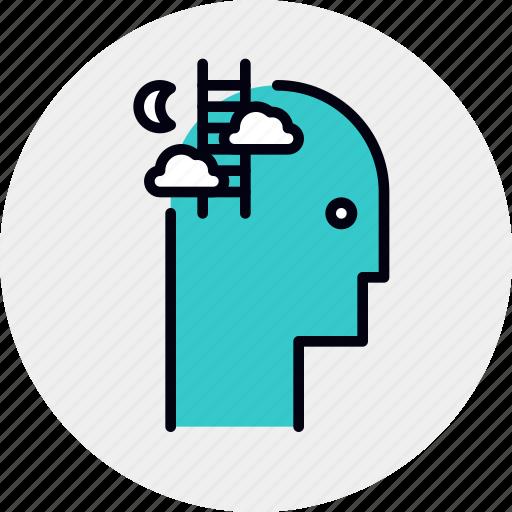 brain, dreaming, idea, imagination, mental, thought icon