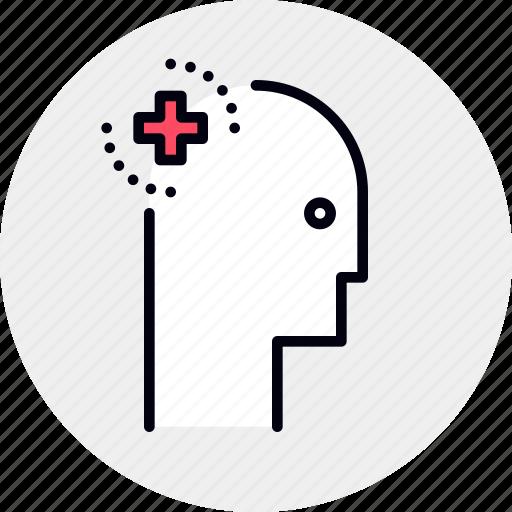 brain, care, health, mental icon