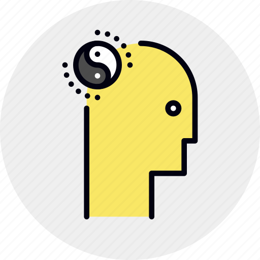 balance, brain, meditation, mental, mind, relaxation icon
