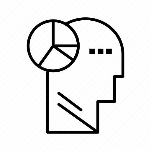 graph, head, mind, thinking icon