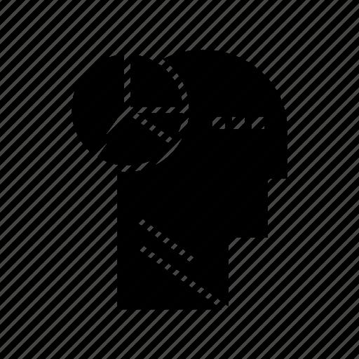 graph, head, mind, thinking icon