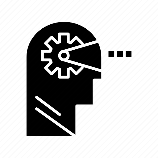 cognitive, head, mind, process icon
