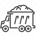 carry, dump, dumper, mine, mining, truck icon