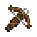 crossbow, game, minecraft, pixels, weapon icon