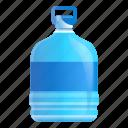 aqua, beverage, blue, bottle, handle, water