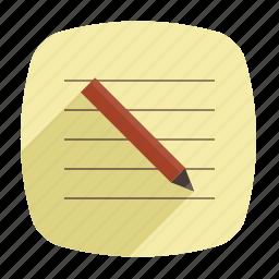 memo, note, pen, pencil icon