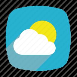 cloud, sky, sun, sunny, weather icon