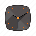 analog, clock, long shadow, watch icon