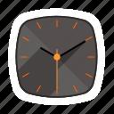 analog, clock, long shadow, watch icon
