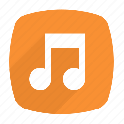 bit, long shadow, music, note icon