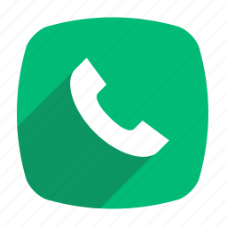 call, chat, long shadow, receive icon