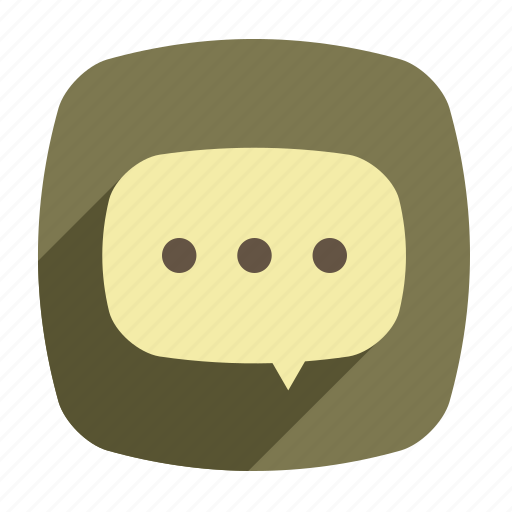 bubble, chat, communication, long shadow, message icon