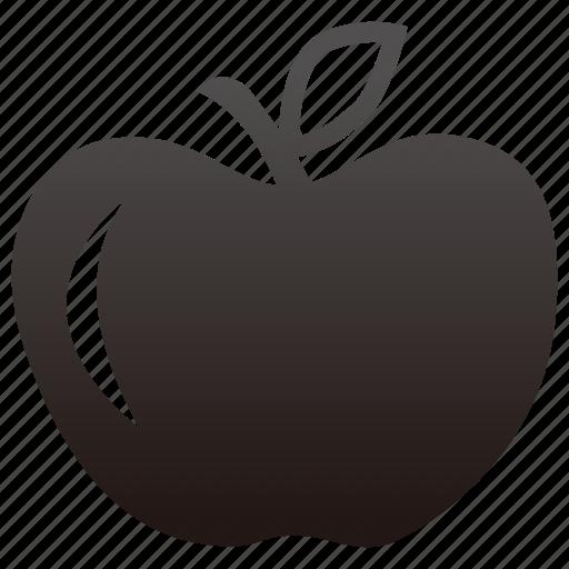 apple, education, fruit, school icon