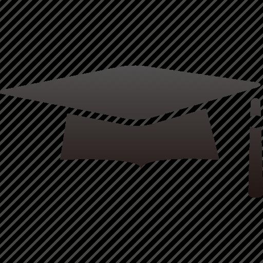 cap, education, graduation, school, trencher icon