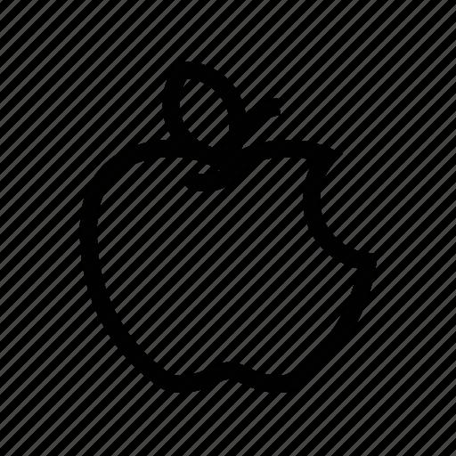 apple, bite, food, fresh apple, fruit, healthy icon