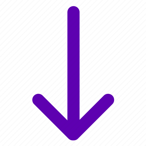 Arrow, down, download, direction, move icon - Download on Iconfinder