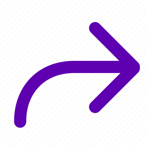 arrow, forward, mail, redirect, right icon