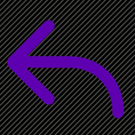 arrow, back, backward, left, previous, reply icon