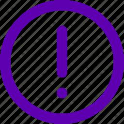 alarm, alert, danger, error, warning icon