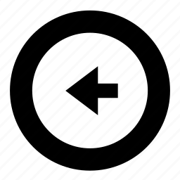 arrow, left, left arrow, previous icon