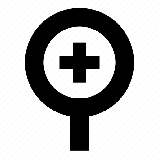 enlarge, expand, magnifying glass, plus icon