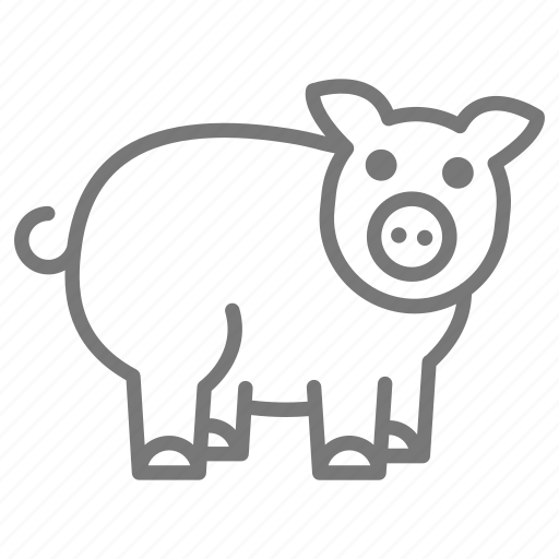 Farm, mammal, pig, piglet, tail icon - Download on Iconfinder