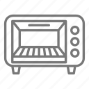 appliance, convection, kitchen, oven, toast, toaster, warm icon