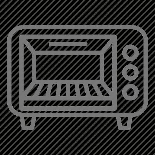 appliance, convection, kitchen, oven, toast, toaster icon