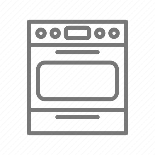 appliance, cook, home, kitchen, oven, range, stove icon