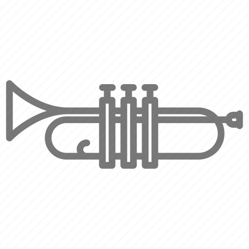 Parade, horn, band, music, winds, trumpet, marching icon - Download